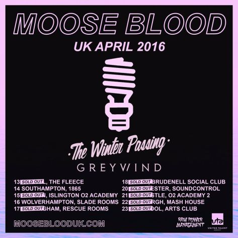 Moose Blood tour